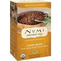 Numi Tea, 유기농 차, 허벌 티산, 허니부쉬, 무카페인, 18개, 1.52 oz (43.2 g)