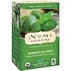 Numi Tea, オーガニックティー、ティザン(ハーブティー)、モロッコ産ミント、カフェインフリー、ティーバッグ18袋、1.40 oz (39.6 g)