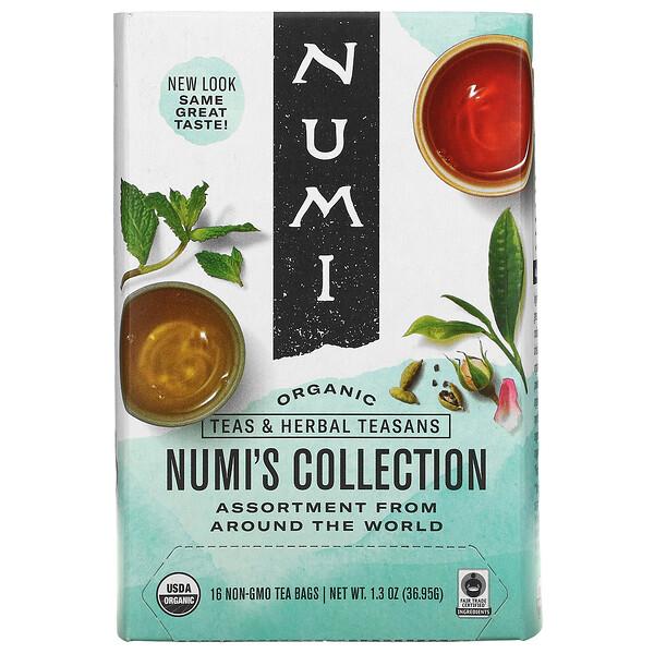 Organic Teas & Herbal Teasans, Numi's Collection, 16 Non-GMO Tea Bags, 1.3 oz (36.95 g)