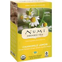 Organic Tea, Herbal Teasan, Chamomile Lemon, Caffeine Free, 18 Tea Bags, 1.08 oz (30.6 g) - фото