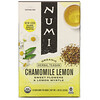 Numi Tea, Organic Herbal Teasan, Chamomile Lemon, Caffeine Free, 18 Tea Bags, 1.08 oz (30.6 g)