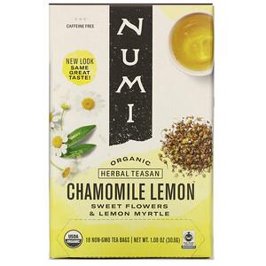 Нуми Ти, Organic Herbal Teasan, Chamomile Lemon, Caffeine Free, 18 Tea Bags, 1.08 oz (30.6 g) отзывы покупателей