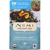Numi Tea, Органический чай, черный чай, выдержанный Эрл Грей, 18 чайных пакетиков (1,27 унц. (36 г)