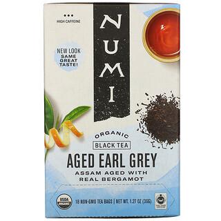 Numi Tea, Organic Black Tea, Aged Earl Grey, 18 Tea Bags, 1.27 oz (36 g)