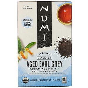 Нуми Ти, Organic Black Tea, Aged Earl Grey, 18 Tea Bags, 1.27 oz (36 g) отзывы покупателей