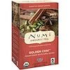 Numi Tea, Органический черный чай, со средним содержанием кофеина, Золотой чай, 18 чайных пакетиков, 1,65 унции (46,8 г)