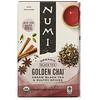 Numi Tea, Organic Black Tea, Golden Chai, 18 Tea Bags, 1.65 oz (46.8 g)