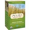 Numi Tea, オーガニック ティー、ハーバル ティーサン、グリーン ルイボス、カフェインレス、ティーバッグ18個入り、1.52 oz (43.2 g)