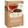 Numi Tea, Organic Tea, Black Tea, Breakfast Blend, 18 Tea Bags, 1.40 oz (39.6 g)