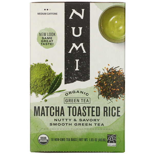 Organic Green Tea, Matcha Toasted Rice, 18 Tea Bags, 1.65 oz (46.8 g)