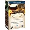 Numi Tea, オーガニックティー、プーアル茶、皇帝のプーアル茶、ティーバッグ16袋、1.13 oz (32 g)