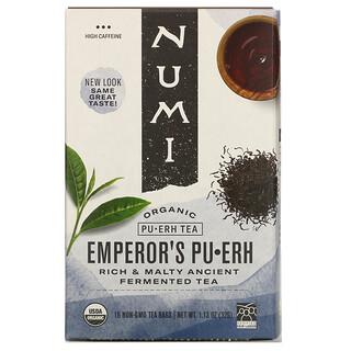 Numi Tea, 有機普洱茶,皇帝普洱,16 茶袋,1.13 盎司(32 克)