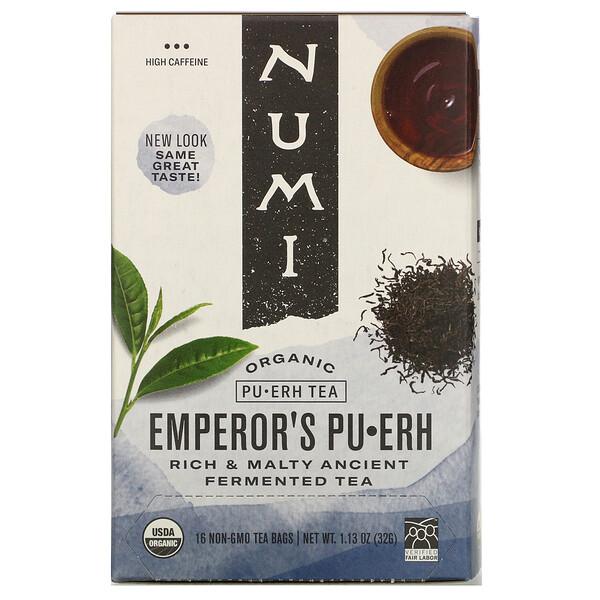 Organic Pu-Erh Tea, Emperor's Pu-Erh, 16 Tea Bags, 1.13 oz (32 g)