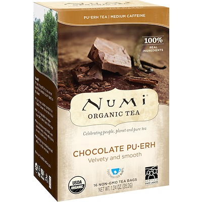 Organic Tea, Pu-Erh Chocolate Pu-Erh, 16 Tea Bags, 1.24 oz (35.2 g)
