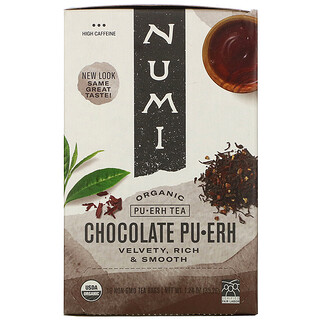 Numi Tea, 有機普洱茶,巧克力普洱,16 茶袋,1.24 盎司(35.2 克)