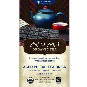 Нуми Ти, Organic Tea, Pu-erh Tea, Aged Pu-erh Tea Brick, 2.2 oz (63 g) отзывы