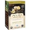 Numi Tea, Organic Tea, Pu-erh Tea, Ginger Pu-erh, 16 Tea Bags. 1.19 oz (33.6 g)