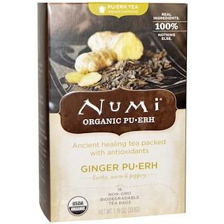Numi Tea, Organic Ginger Pu-erh Tea, 16 Tea Bags. 1.19 oz (33.6 g)