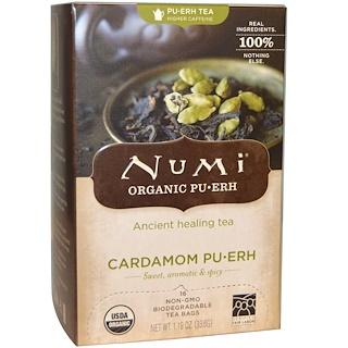 Numi Tea, Organic, Pu-Erh Tea, Cardamom Pu-erh, 16 Tea Bags, 1.19 oz (33.6 g)