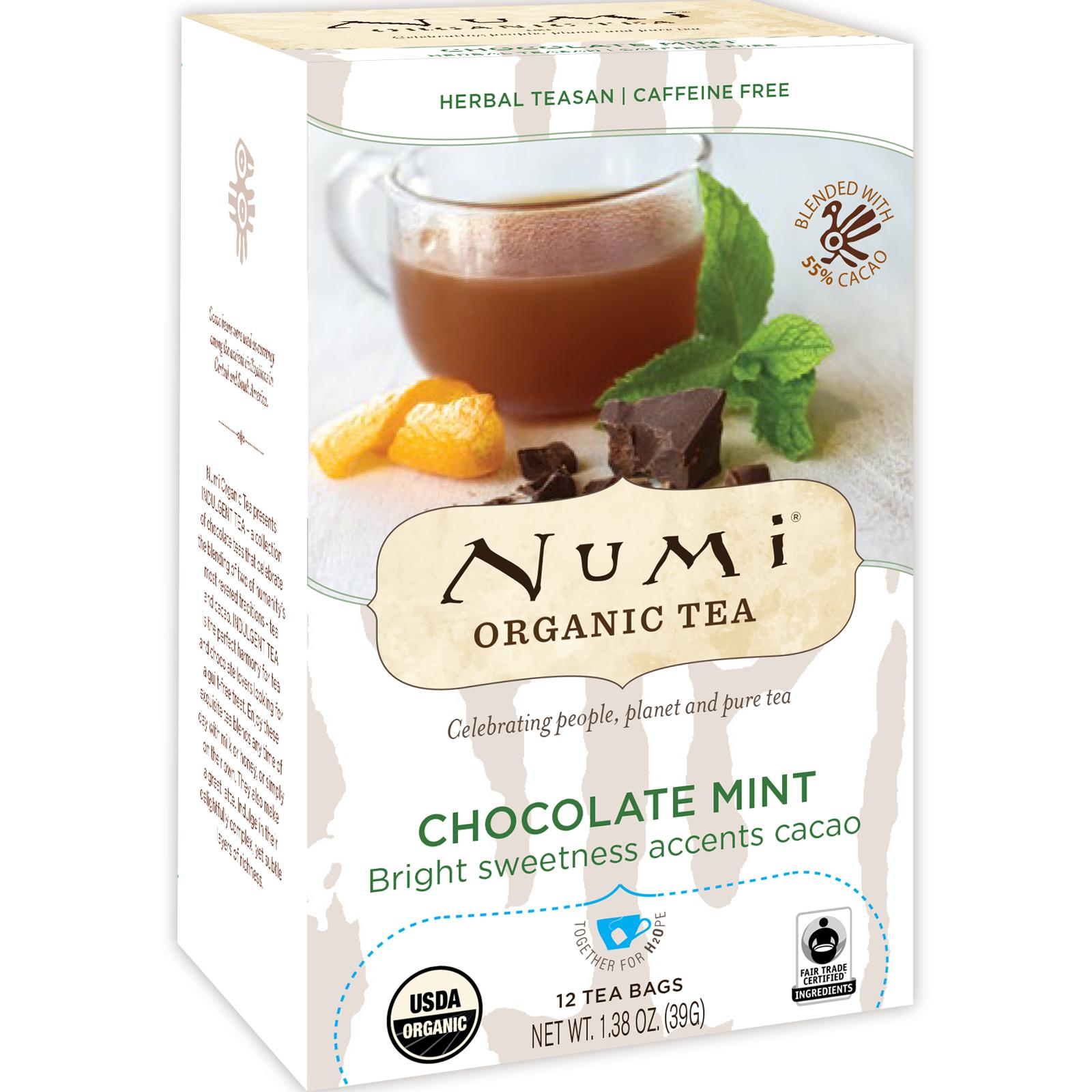 Numi Tea Organic Herbal Teasan Chocolate Mint 12 Bags