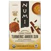Numi Tea, Organic Herbal Teasan, Turmeric Amber Sun, Caffeine Free, 12 Tea Bags, 1.46 oz (41.4 g)