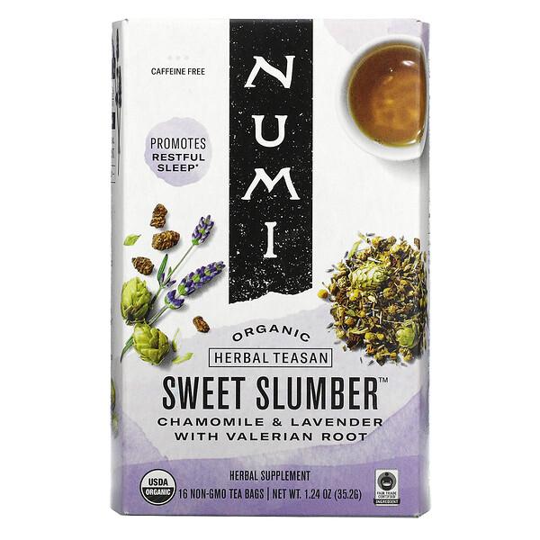 Organic Herbal Teasan, Sweet Slumber, Caffeine Free, 16 Tea Bags, 1.24 oz (35.2 g)