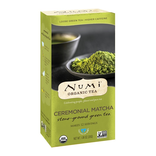 Numi Tea, Organic Tea, Loose Green Tea, Ceremonial Matcha, 1.06 oz (30 g)