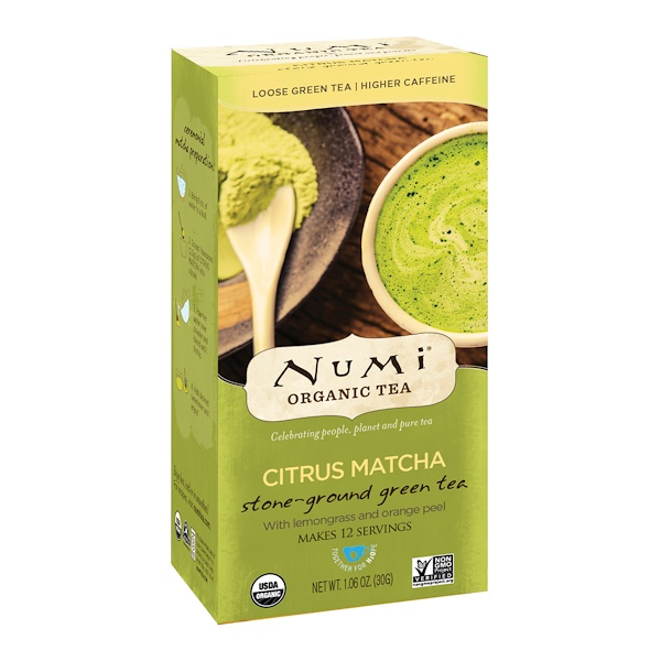 Numi Tea, 有機,柑橘抹茶,細磨綠茶,1、06 盎司(30 克)