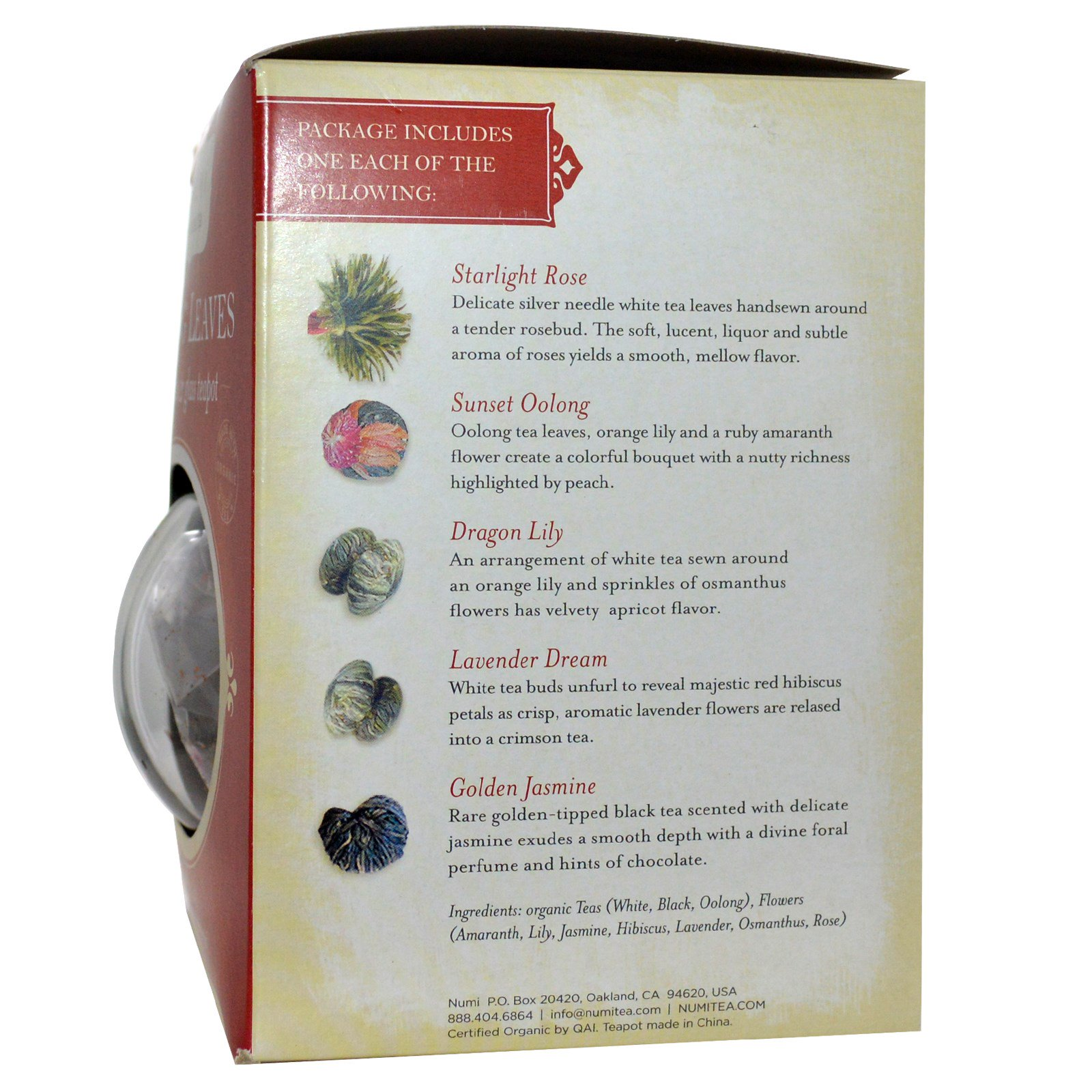 By Numi Tea. Click to zoom  sc 1 st  iHerb.com & Numi Tea Flowering Tea \u0026 Glass Teapot 5 Tea Blossoms - iHerb.com
