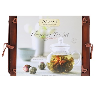 Numi Tea, Flowering Tea Set In Bamboo, 1 Tea Set