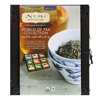 Numi Tea, ワールドオブティーオーガニックコレクション、45ティーバッグタイプ、3.42オンス (97 g)