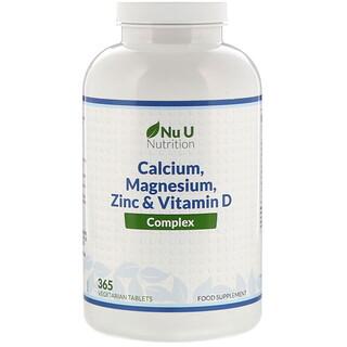 Nu U Nutrition, Calcium, Magnesium, Zinc & Vitamin D Complex, 365 Vegetarian Tablets