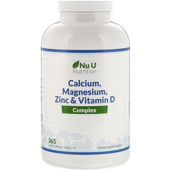 Complexo de Cálcio, Magnésio, Zinco e Vitamina D, 365 Comprimidos Vegetarianos