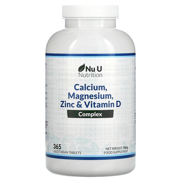 Kalsium, Magnesium, Zinc, & Vitamin D Kompleks, 365 Tablet Vegetarian