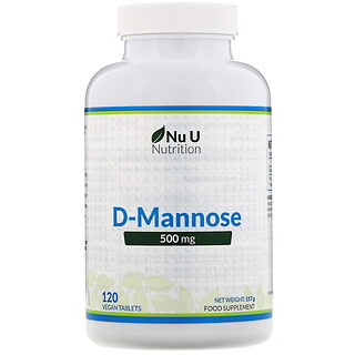 Nu U Nutrition, D-甘露糖,500 毫克,120 粒素胶囊