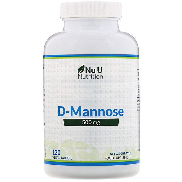 Nu U Nutrition, D-Mannose, 500 mg, 120 Vegan Tablets