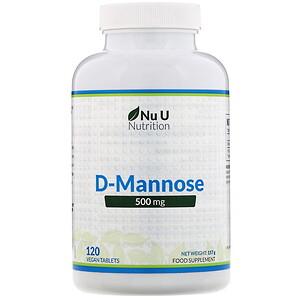 Nu U Nutrition, D-Mannose, 500 mg, 120 Vegan Tablets отзывы