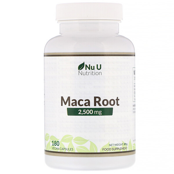 Nu U Nutrition, Maca Root, 2,500 mg, 180 Vegan Capsules