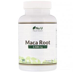 Nu U Nutrition, Maca Root, 2,500 mg, 180 Vegan Capsules отзывы покупателей