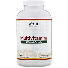Nu U Nutrition, 複合維生素和礦物質配方,365 片素食片