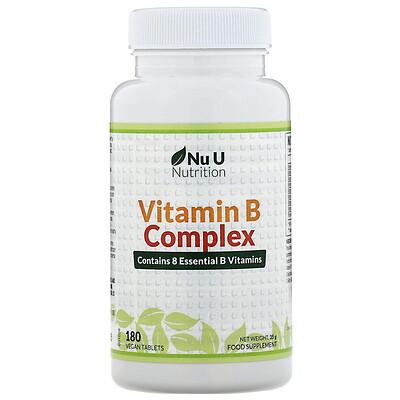 Купить Nu U Nutrition Комплекс витаминовВ, 180таблеток растительного происхождения