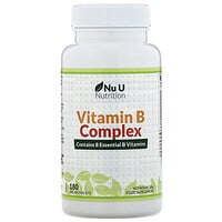 Nu U Nutrition, Vitamin B Complex, 180 Vegan Tablets