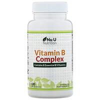 Nu U Nutrition, 複合維生素 B,180 片純素食片