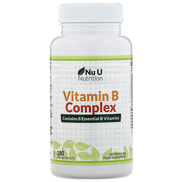 Vitamin B Complex, 180 Vegan Tablets