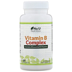 Nu U Nutrition, Vitamin B Complex, 180 Vegan Tablets'