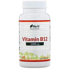 Nu U Nutrition, 維生素 B12,1000 微克,180 片素食片