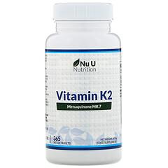 Nu U Nutrition, 維生素 K2,365 片純素食片