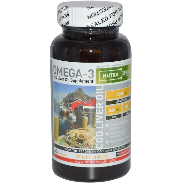 Nutra Origin, Omega-3, Cod Liver Oil Supplement, 60 Softgels (Discontinued Item)