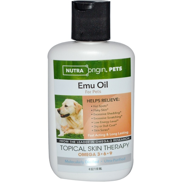 Nutra Origin, Emu Oil for Pets, Topical Skin Therapy, 4 oz (118 ml) (Discontinued Item)