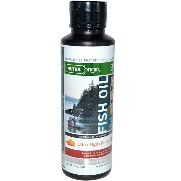 Nutra Origin, Omega-3 Fish Oil Supplement, Orange Flavor, 8 fl oz (236 ml) (Discontinued Item)